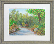 Spring Scenes Pastels - May Walk at Brookside Gardens by Nancy Heindl