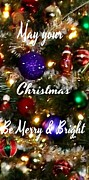 Christmas Greeting Photo Framed Prints - May Your Christmas Be Merry and Bright Framed Print by Gail Matthews