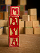 Maya Posters - MAYA - Alphabet Blocks Poster by Edward Fielding