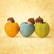 Nut Art - Maya and Ruby and Justin  by Anne Geddes