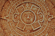 Precise Prints - Mayan God Calendar  Print by Brandon Bourdages