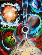 Outer Space Painting Metal Prints - Mayan Nebula Metal Print by Amy LeVine