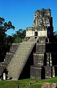 Maya Framed Prints - Mayan Ruins - Tikal Guatemala Framed Print by Juergen Weiss