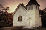 Wooden Building Posters - Maybe a Church Poster by Joan Carroll