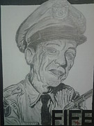 Andy Griffith Drawings - Mayberry Deputy by Mark Norman II