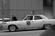 Police Cruiser Art - Mayberry Meets Seattle - vintage police cruiser by Jane Eleanor Nicholas