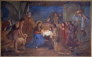 Adoration Prints - Mayer Ludwig, Nativity, 1891, 19th Print by Everett