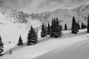 Summit County Framed Prints - Mayflower Gulch Monochrome Framed Print by Eric Glaser