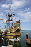Plymouth Harbor Prints - Mayflower II Print by Christiane Schulze