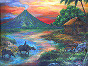 Manuel Cadag - mayon sunset-repro from...