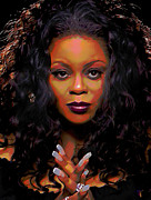 Photo . Portrait Posters - Maysa Poster by Byron Fli Walker