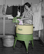 Washing Photos - Maytag Woman by Andrew Fare
