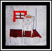 Washing Machine Digital Art Posters - Maytag Wringer Washer Poster by Barbara Griffin