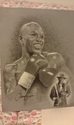 Boxing Drawings - Mayweather by Christian Garcia