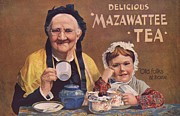Victorian Drawings Metal Prints - Mazawattee 1890s Uk Tea Metal Print by The Advertising Archives