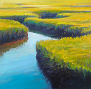 Tidal River Pastels - Maze by Ed Chesnovitch
