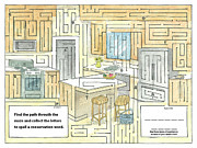 Pollution Drawings - Maze game by T Visco