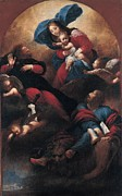 Holy Art Framed Prints - Mazzoni Sebastiano, Madonna And Child Framed Print by Everett