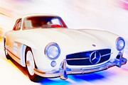 Vintage Sport Cars Photo Framed Prints - Mb 300 Sl Framed Print by Tom Griffithe