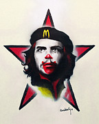 Fast Food Mixed Media Framed Prints - Mc Che Guevara Framed Print by Eusebio Guerra