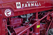 Machinery Photo Framed Prints - Mc Cormick Farmall Super C Framed Print by Susan Candelario