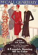 Clothes Clothing Drawings - Mccall Quarterly 1920s Usa Womens  Art by The Advertising Archives