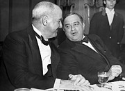Conversations Art - McCook And Mayor LaGuardia by Underwood Archives