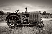 Machinery Metal Prints - McCormick Deering 15-30 Metal Print by Debra and Dave Vanderlaan