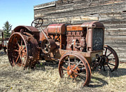 Mccormick-deering Hand-crank Start Tractor Print by Daniel Hagerman