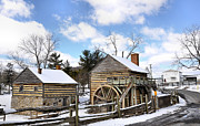 Log House Prints - McCormick Farm 3 Print by Todd Hostetter
