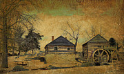 Log House Prints - McCormick Farm 6 Print by Todd Hostetter