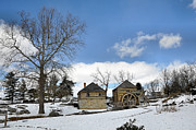 Log House Posters - McCormick Farm in Winter Poster by Todd Hostetter