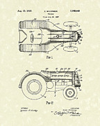 1939 Drawings Posters - McCormick Tractor 1939 Patent Art Poster by Prior Art Design