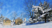 Snow Scenes Metal Prints - McCormicks Farm February 2012 Series V Metal Print by Kathy Jennings