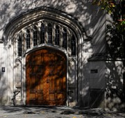 Old Door Framed Prints - McCosh Hall Doorway Framed Print by Val Arie