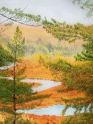Ontario Paintings - McCrea Lake Look-out by Lori Kallay