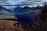 Lake Mcdonald Prints - McDonald Overlook Print by Adam Jewell