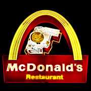 Fast Food Framed Prints - McDonalds - Electric Framed Print by Wingsdomain Art and Photography