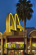 Mcdonalds Art - McDonalds Golden Arches Hoillywood CA  by David  Zanzinger