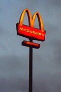 Welcome Signs Art - McDonalds - Painterly - v2b by Wingsdomain Art and Photography