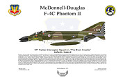 U.s. Air Force Framed Prints - McDonnell Douglas F-4C 57th FIS Framed Print by Arthur Eggers