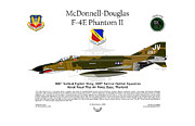 Vietnam Digital Art Framed Prints - McDonnell Douglas F-4E Phantom Framed Print by Arthur Eggers
