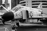 Manhatan Prints - McDonnell F4N Phantom on the flight deck USS Intrepid f4 Print by Joe Fox