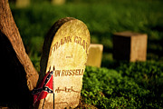 Confederate Flag Photo Posters - McGavock Confederate Cemetery Poster by Brian Jannsen