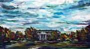Quad Painting Prints - McKeldin Mall Print by Roni Meunier