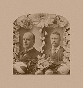 Mckinley And Roosevelt Print by War Is Hell Store