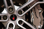 Supercar Framed Prints - McLaren Wheel Emblem Framed Print by Jill Reger