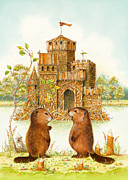 Beaver Painting Prints - McLodge Print by Lynn Bywaters