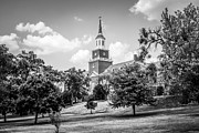 Hall Photo Prints - McMicken College Black and White Picture Print by Paul Velgos
