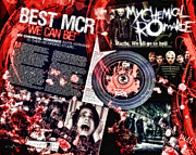 Rock Band Mixed Media Prints - Mcr Print by Mo T